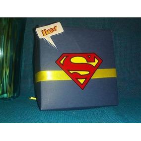 Cajitas Invitacion Para,cumpleaños, Heroes, Lego, Superman