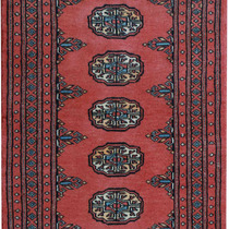Alfombra / Tapete Handmade Afghan Bokhara Rug, Rose, 2x 31