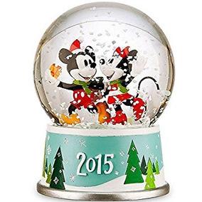 Bola De Cristal Con Nieve Disney Mickey Y Minnie Navideña