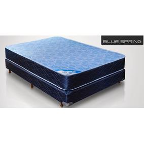 Conjunto Sommier Y Colchon Gani Blue Spring 3.0 190x140x22
