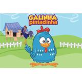 Painel De Festa Da Galinha Pintadinha Com Ilhoes Mod 2