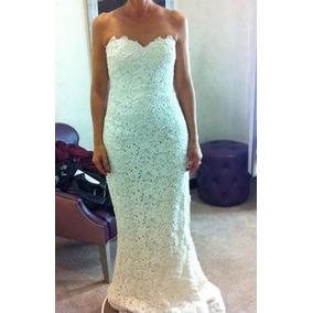 Luxo: Vestido Noiva Renda Guipir Sereia Tomara Caia E Cauda
