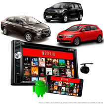 Dvd Carro Multimídia 2 Din Gps Bluetooth Câmera Ré Moldura