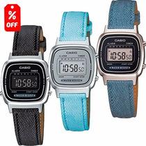 Reloj Dama Casio Retro Vintage La670 Lona 100% Original Cfmx