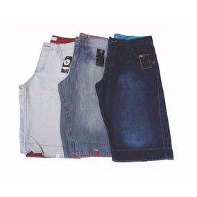Kit 03 Bermuda Jeans Masculina Slim C/ Lycra Ótima Qualidade