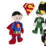 Kit Bonecos Liga Da Justiça Em Feltro Heróis