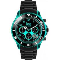 Reloj Ice Watch Electrik Negro Y Tuquesa 53mm Ch.kte.bb.s.12