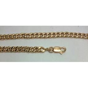 Pulsera Groumet Oro 18k 5.9gr X 21cm Hombre Mujer Garantia