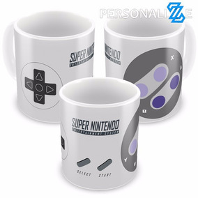 Caneca Porcelana Controle De Super Nintendo Snes Video Game
