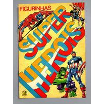 Álbum Super Heróis 1978 - Figurinhas Para Colar