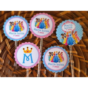 100 Toppers Ou Tag Palitinho Personalizados Cupcakes Docinho