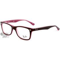 Ray Ban Rb 5228 Wayfarer - Óculos De Grau 2126 - Lente 5,0