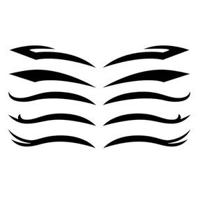 Sombrancelha Sombra Adesiva Tatoo 6 Cartelas Com 5 Pares Cad