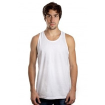 Camiseta Regata Lisa Masculina Algodão Branca E Outras Cores