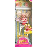 Juguete Diversión Barbie Comiendo Kelly Muñeca Set De Juego