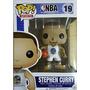 Pop Nba Stephen Curry White Uniform Vinyl Figure !