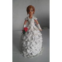 Noiva Feita A Mão Com Eva E Biscuit