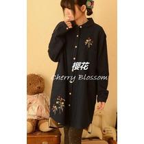 Bluson Mini Vestido Invierno Mori Lolita Ropa Japonesa