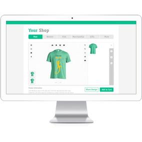 Script + Site Completo Criar (personalizar) Camisetas Online