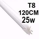 Lâmpada Led Tubular T8 Branc Frio 120cm C/calha Completa 25w