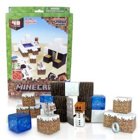Arte Papel Minecraft Construccion Nieve Geekend