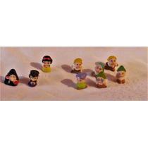 Set 9 Figuras De Blanca Nieves D Disney Mini Hermosos 2.5 Cm