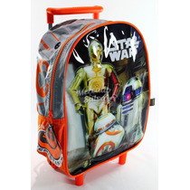 Mochila Star Wars Rigid Colegio Niño Colegial Original Carro