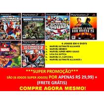 Liga Da Justiça (6 Jogos Ps2 Infantil Justice League Heroes