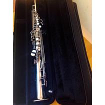Sax Soprano Yamaha Japan 475 Prata Original