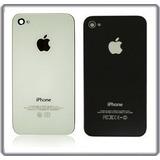Tapa Trasera Para Iphone 4s Blanco Y Negro Cristal