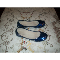 Chatitas Brillosas Azul Plateado Daniel Cassin T 35