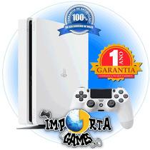Playstation 4 Ps4 Slim Hd 500 Glacier White (branco)