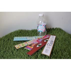 50 Etiquetas Botellas Agua Personalizadas