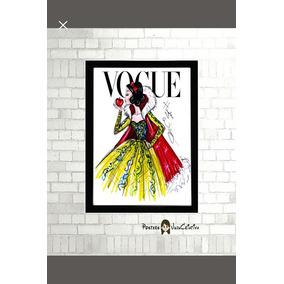 Pôster C Moldura Branca De Neve Vogue