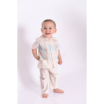 Guayabera Conjunto Con Pantalon Manta Bebé Tepa
