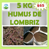 Lombricomposta 5kg Humus De Lombriz Abono Orgánico Sustrato
