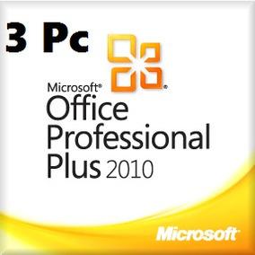 Office 2010 Professional - Licencia Original 3 Pc