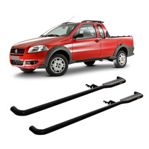 Estribo Lateral Fiat Strada Working 1996 A 2013 Preto