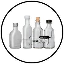 Botella De Vidrio 50 Ml. 24 Pz Maoldi Frasco Envase