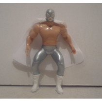 El Santo - Luchador De Plastico - Muñeco De Juguete