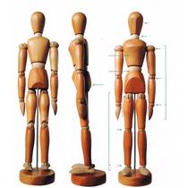 Boneco Manequim De Madeira Articulado Desenho Arte 14cm