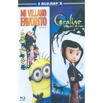 Blu Ray Mi Villano Favorito 1 Y Coraline Y La Puerta Secreta