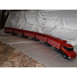 5 Carretas Madeira Caminhão Brinquedo Scania Bi Trem 2,80mts