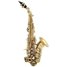 Amw Custom Saxofone Soprano Curvo Laqueado Bb + Estojo. Loja
