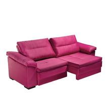 Sofá Kappesberg Havana 3 Lugares 230 Cm Retrátil Pink