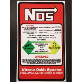 Adesivo Nos - Made In Usa / Tuning,turbo, Nitro, Acessórios