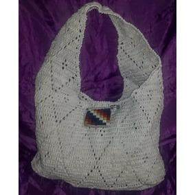 Bolso Tejido Al Crochet Con Prendedor Whipala Todo Artesanal