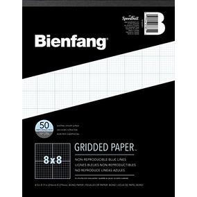 Bienfang Diseñador Papel Cuadriculado, 50 Hojas, 8-1 / 2 Pu
