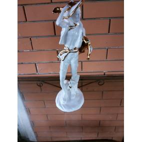 Escultura Porcelana Homem Biscuit 38cm Biscuit Estatueta