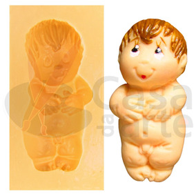 Molde De Silicone P/ Biscuit: Bebê Sem Fralda 131